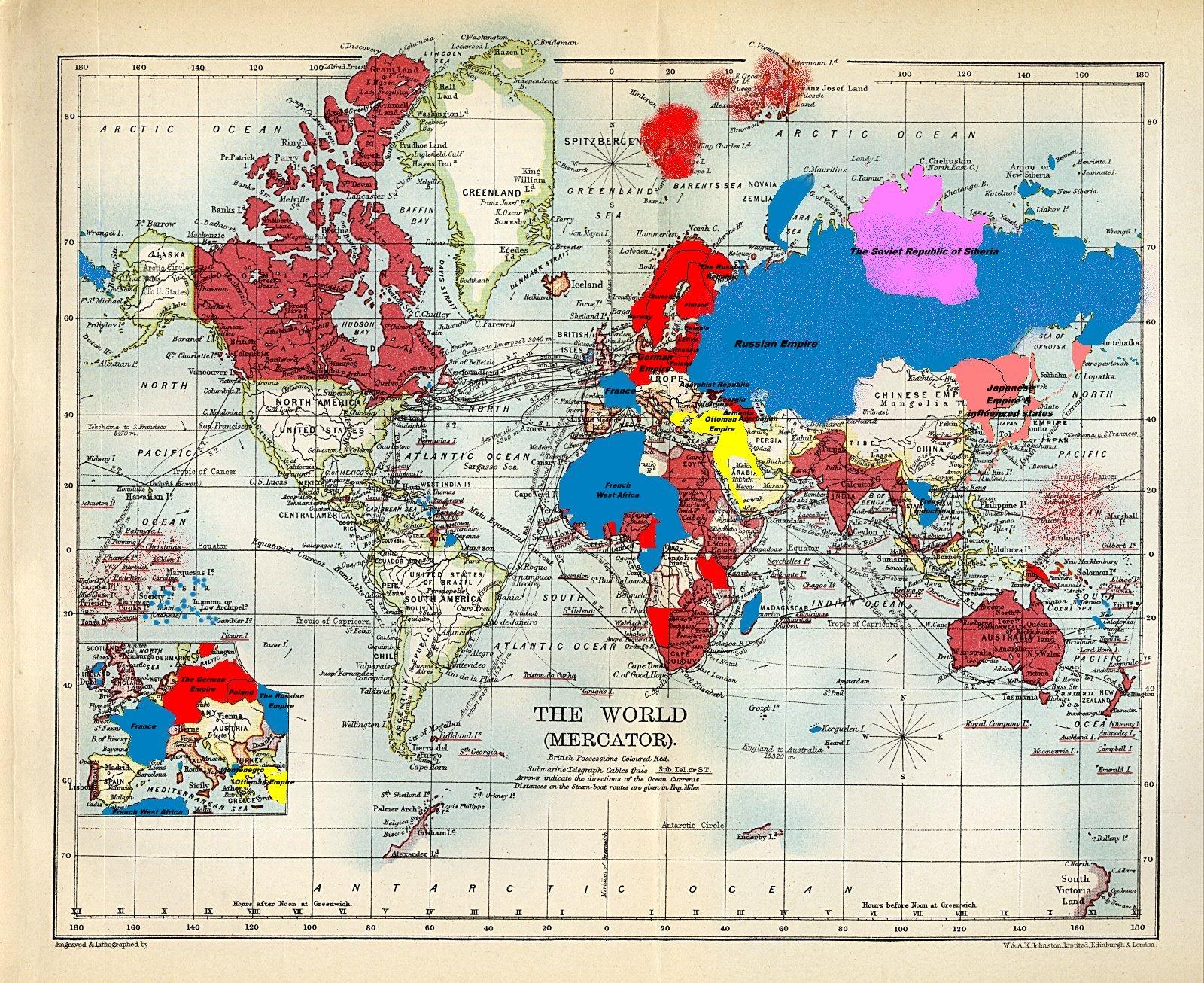 Image  Divided world 1907jpg  Alternative History  FANDOM