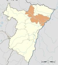 Map of Alsace highlighting Hagenau