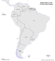 Map of South America (13 Fallen Stars)