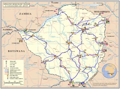 Operation Democratic Change 2009 Map