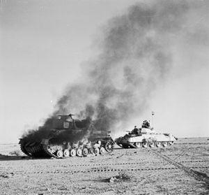 File:Crusader Tank and German Tank.jpg