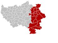 Arrondissement Verviers Belgium Map