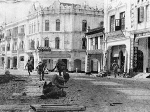 Japanese troops mopping up in Kuala Lumpur