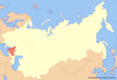 Location of Cossackia (New Union)
