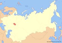 Location of Tatarstan (New Union)