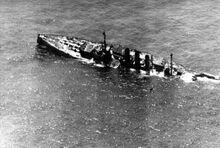 SMS Ostfriesland sinking close