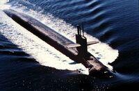 USS Alabama (SSBN-731) en pruebas
