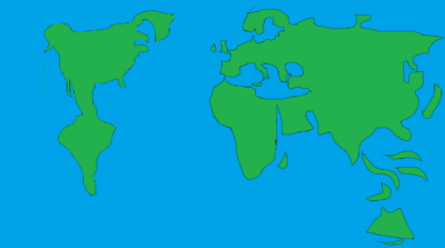Map of earth hideously distorted