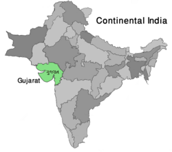 Map India Gujarat (VegWorld)