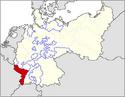 CV Map of Alsace-Lorraine 1918-1933