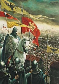 Constantine XI Defending the City