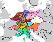 Holy Roman Empire Circles in 1517