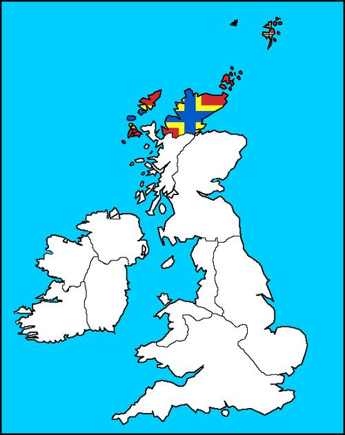 Orkney Map (the Kalmar Union)