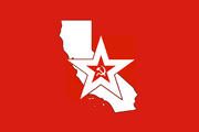 California Red Army flag NotLAH
