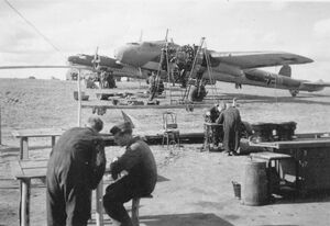 Invasion of CSR - Dornier Do 17 bombers of Kampfgeschwader 255 (WFAC)