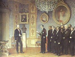 350px-Dell'Acqua Ernennung Maximilians zum Kaiser Mexikos