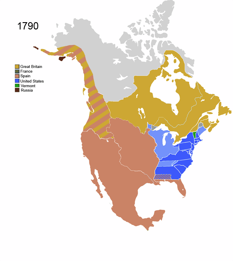 Image North America Map Png Alternative History FANDOM - Map of us in 1790