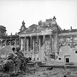 Reichstag after the allied bombing of Berlin