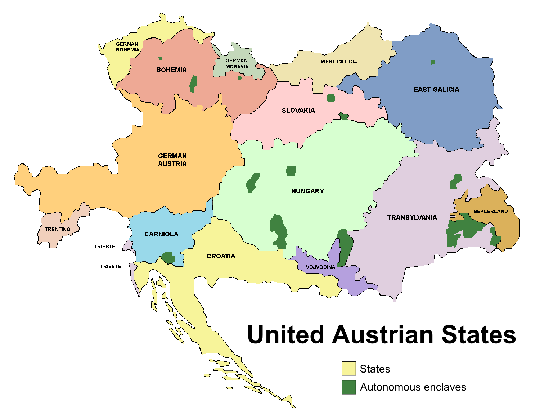 Image United Austrian States Mappng Alternative History - Alternate us map