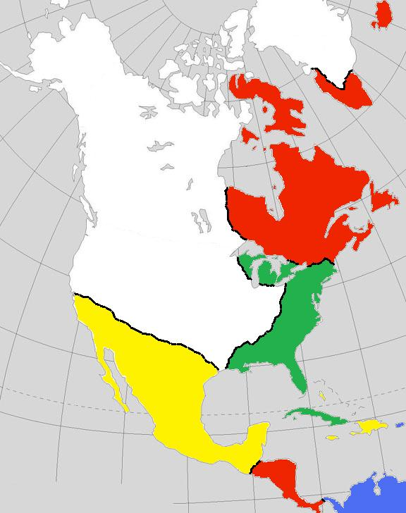 Image Blank map of north americajpg