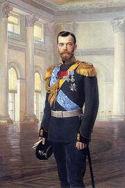 399px-Nicholas II of Russia painted by Earnest Lipgart