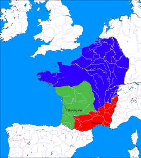 Francia and Aquitania and narbonensis