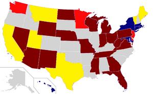 2012 Senate election map