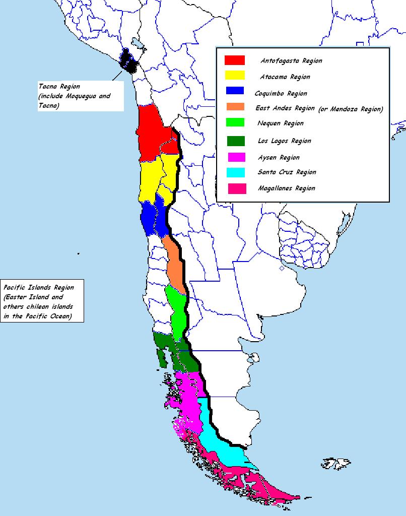 Image Provincias Chile CWPNG Alternative History FANDOM - Chile regions map