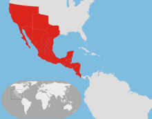 Location Mexican Empire (1822)