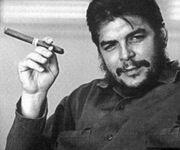 Che Guevara with cigar