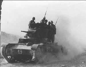 Spanish 11 interbrigada in the battle of Belchev 1937