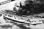 HMS Invincible hit