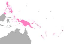 Location of Melanesia (Satomi Maiden ~ Third Power)