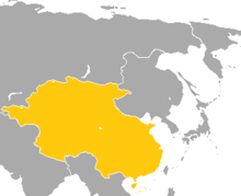 Map of China in Pauvre Monde