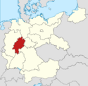 Locator map Hesse in Germany (IM)