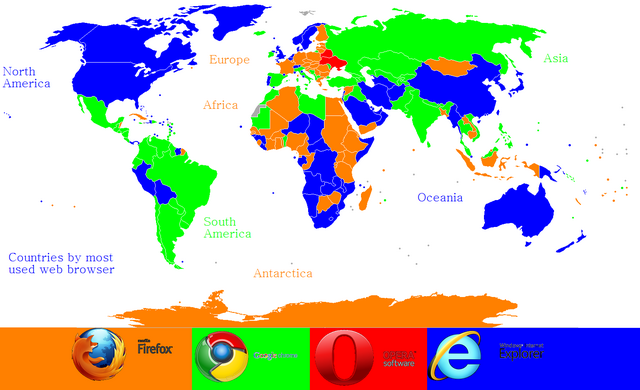 File:The Countries by the first most used web browsers.png