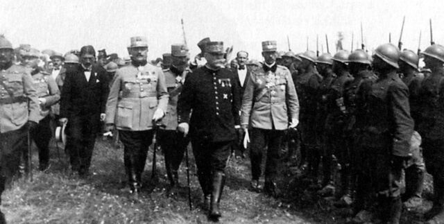 File:Marshal Joffre inspecting Romanian troops during WWI.jpg