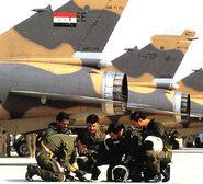 Iraqi pilots of mirage F1 before mission in Iran