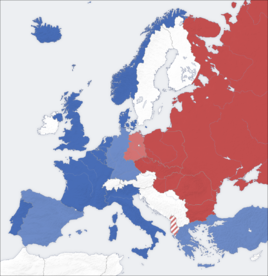 Cold war europe military alliances map