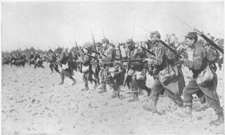 French bayonet charge