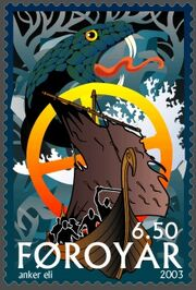Faroe stamp 435 Intro to Ragnarok