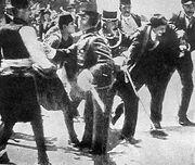 Gavrilo Princip captured in Sarajevo 1914