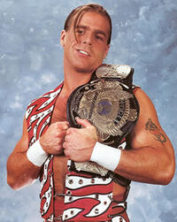 Shawn Micheals as WWF champion