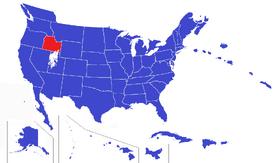United States map - Shoshone (Alternity)