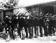 Rhodesians parade on Reunification Day, 1884