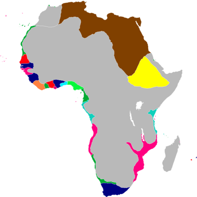 Scramble for Africa Map 1843