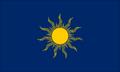 Dark blue sun flag