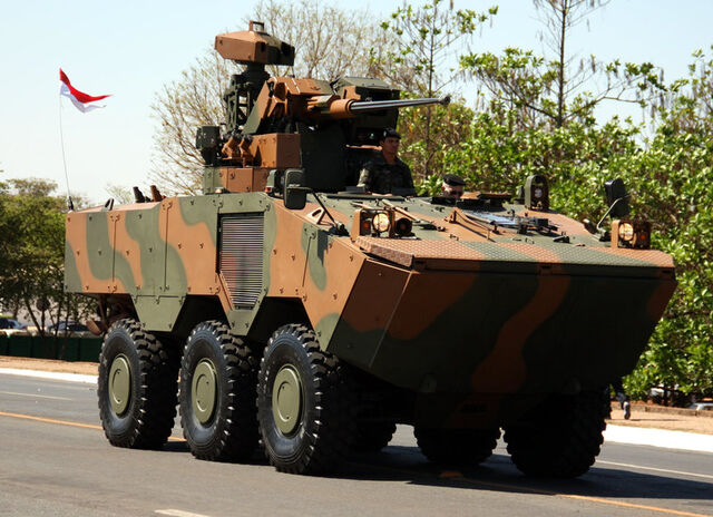 File:VBTP-MR Guarani is a 6x6 armored personnel carrier by Fiat's IVECO Brazilian Army URUTU-3 UT-30BR turret REMAX – (Reparo de Metralhadora automatizada Brazilian remote weapon system CTEx (2).jpg