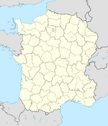 France location map - Regions and departements (IM)