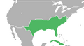 Location of the Confederate States 1914.png